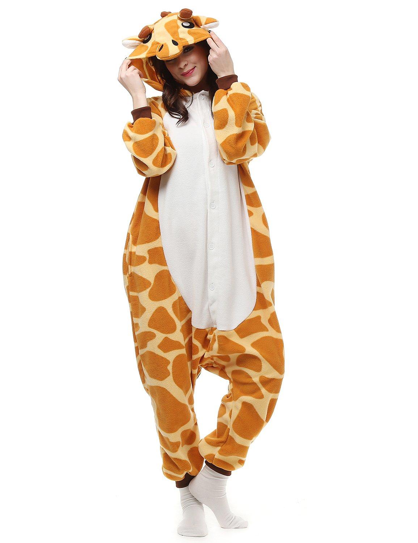 Shine Love Giraffe Kigurumi Onesies Unisex Costume Pajamas Animal Cosplay Nightwear AC057