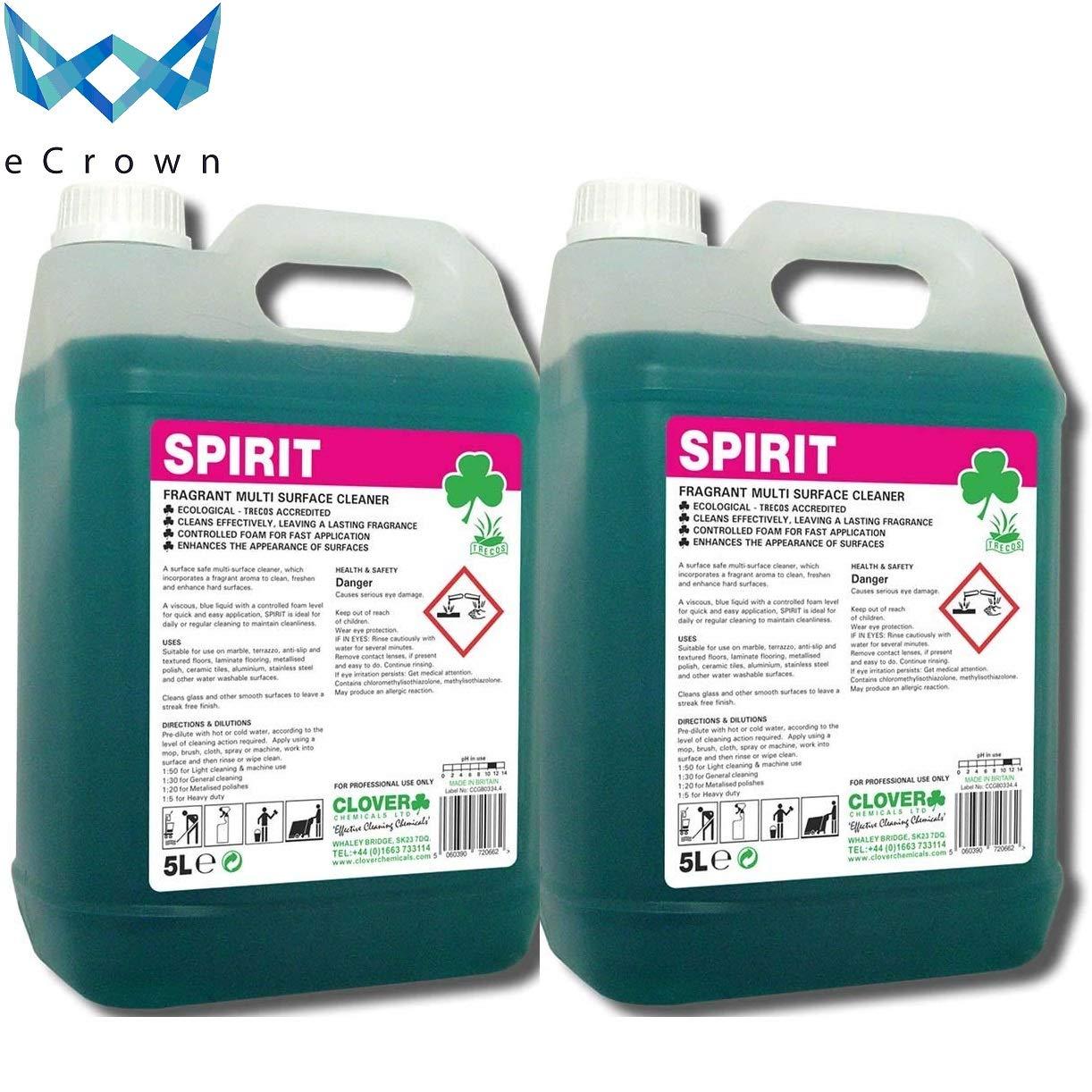 Spirit Fragrant Multi-Surface Cleaner ~ 2 x 5 Litre eCrown