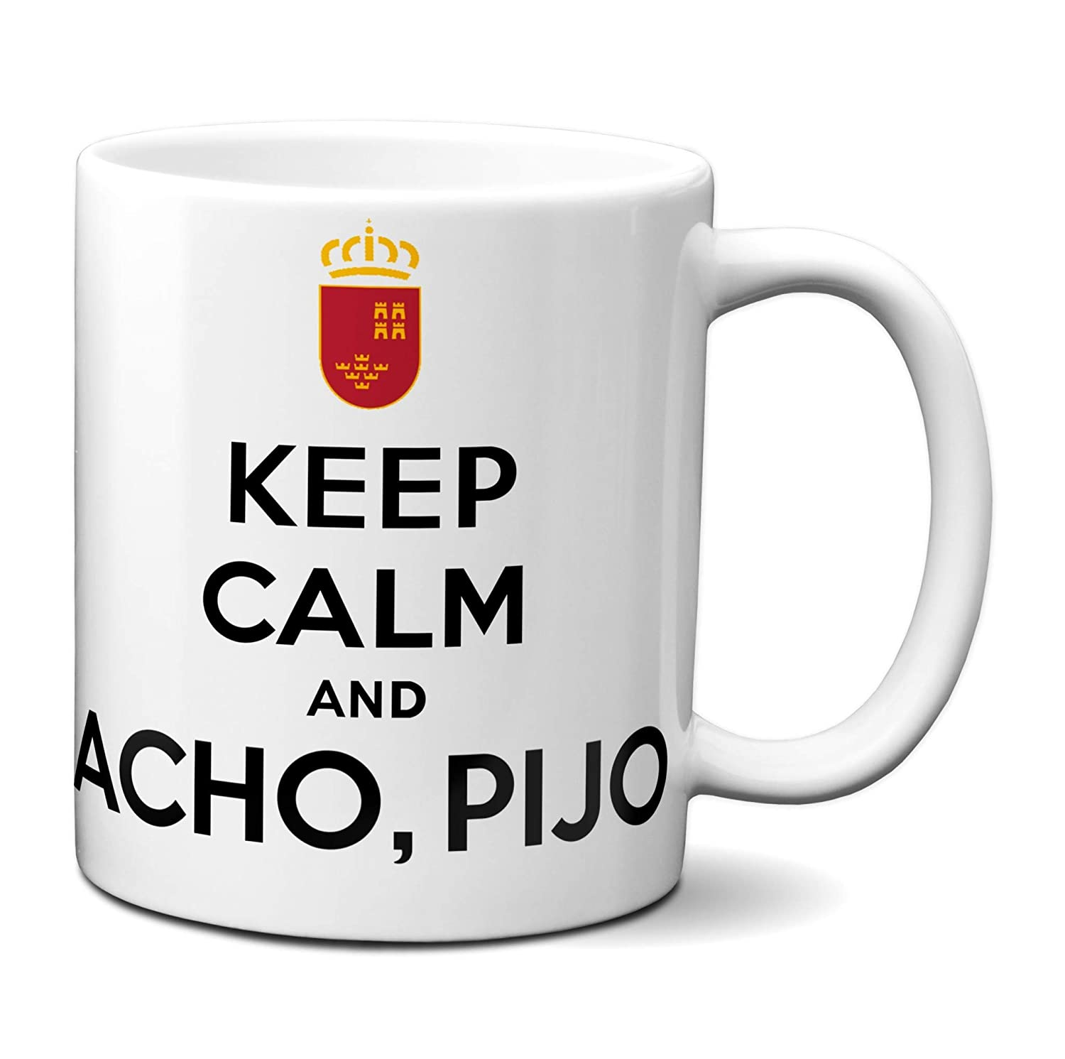 Planetacase Taza Keep Calm and acho, pijo Murcia Ceramica 330 mL ...