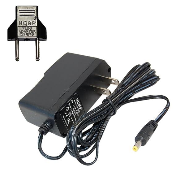 HQRP Adaptador de CA para Omron M2, M3, M3 W/HEM-7202-E (V), M6 Comfort/HEM-7223-E, M6 W/HEM-7213-E, M10-IT/HEM-7080IT-E Control de la tensión ...