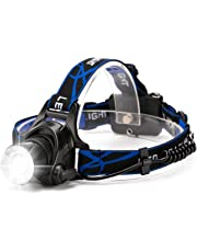 HFAN LED Headlamp Headlight, Super Bright 3 Modes 800 Lumens Adjustable Zoomable Waterproof Headlamp for Camping, Riding, Running, Night Walking, Fishing, Hunting,Reading,Car Repairing,DIY Works ect