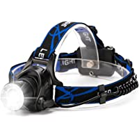 HFAN LED Headlamp Headlight, Super Bright 3 Modes 800 Lumens Adjustable Zoomable Waterproof Headlamp for Camping, Riding, Running, Night Walking, Fishing, Hunting,Reading,Car Repairing,DIY Works ect