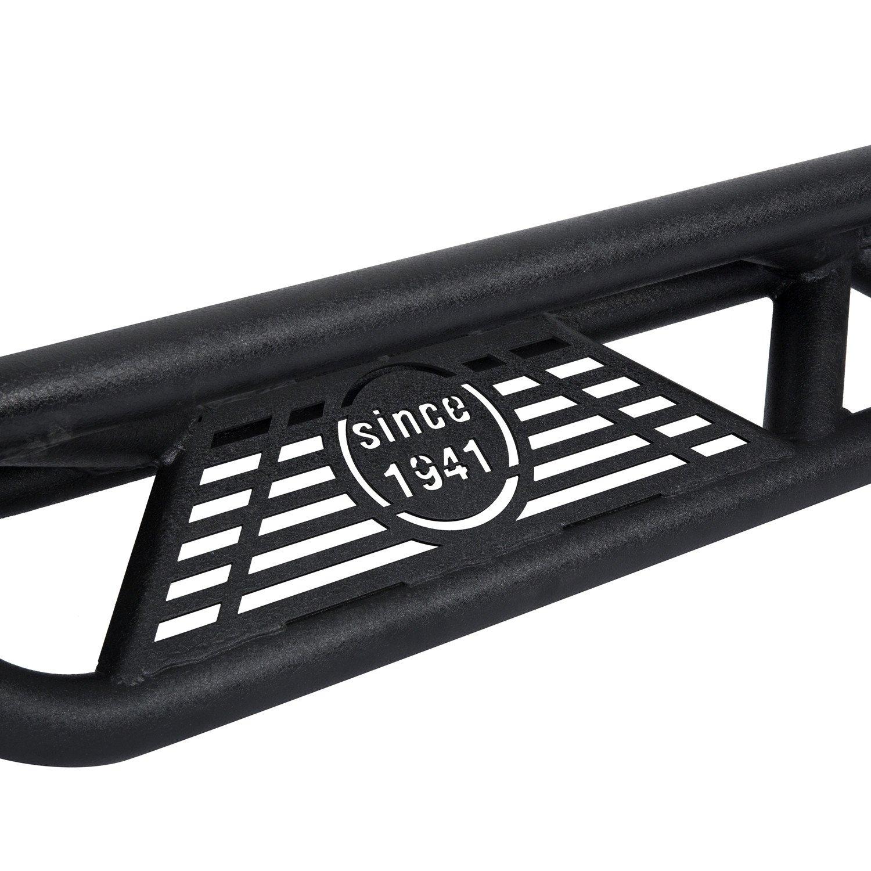 Hooke Road JK Side Steps Off Road Nerf Bars Running Board