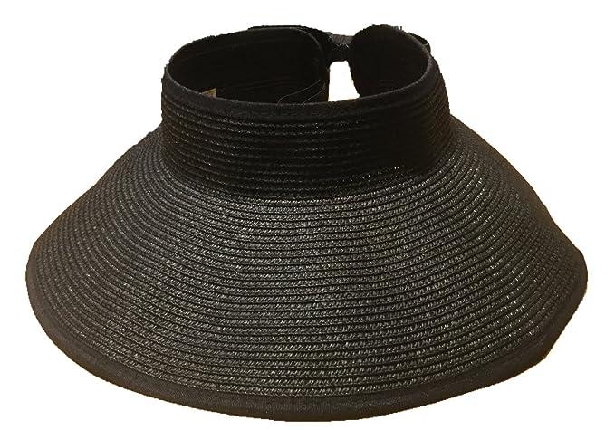 21089693a1793 Norahats Premium Women s Sun Hat Visor Hat Foldable Summer Wide Brim Roll-up  Straw (
