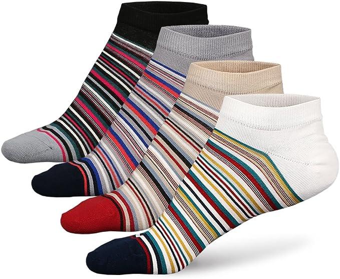 5 Pairs Mens Long socks,Cotton Rich Knee High Socks for Men,Running Sports Socks One Size 6-11