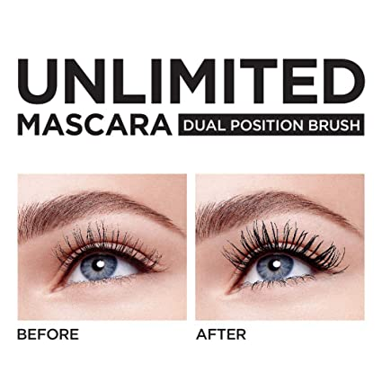 da86d5193f2 Amazon.com: L'Oréal Paris Makeup Unlimited Lash Lifting and Lengthening  Washable Mascara, Instant Lash Lift Effect, Two-Position Wand, Straight or  Bent, ...