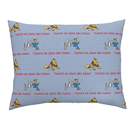 e115edf5716 Roostery Dorothy Gingham Lion Scarecrow Tinman Check Checkerboard Standard  Knife Edge Pillow Sham Oz Gingham ~