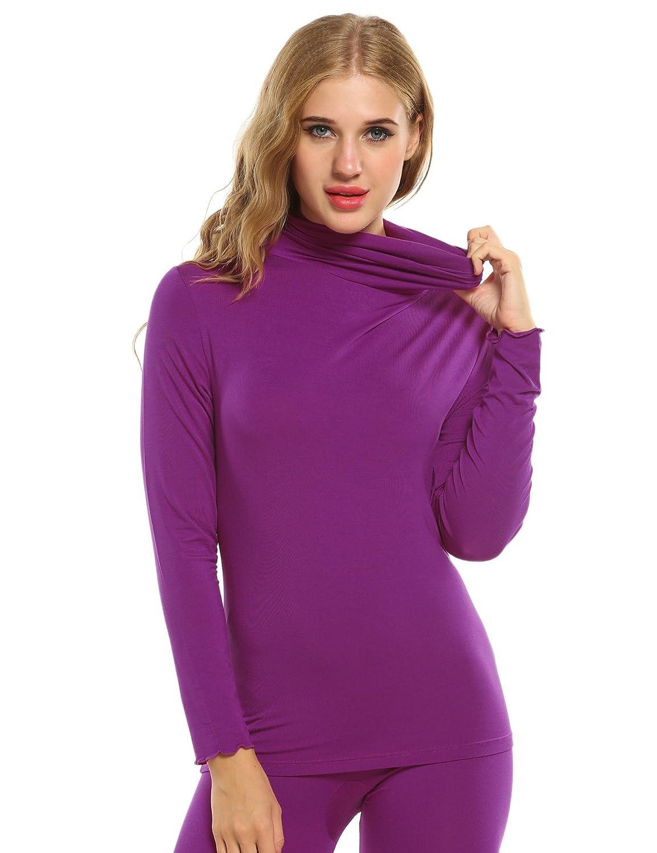 ZEARO Damen Warme Unterwäsche Thermal Underwear Funktionswäsche Langarmshirt Oberteil und Hosen Sets Skiunterwäsche