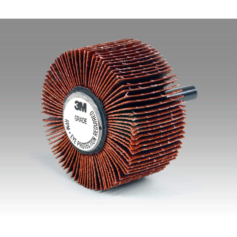 1 Width Shaft Attachment Pack of 10 3M Flap Wheel Type 83 747D Ceramic Grain 25000 rpm 80 Grit 2-1//2 Diameter