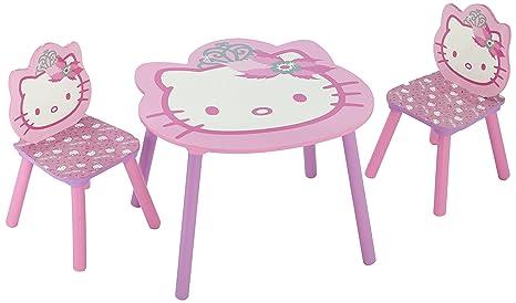 Tavolino Piu Hello Kitty.Delta Tt 89449 Tavolo Hello Kitty 60 X 60 Cm 2 Sedie In