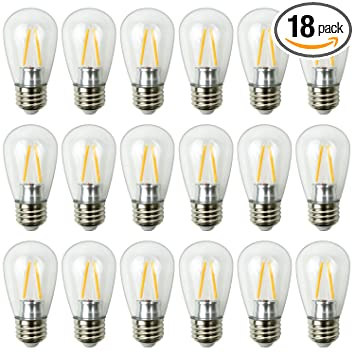 new house lighting. Newhouse Lighting Outdoor Weatherproof 2W S14 LED Filament Replacement String Light Bulbs Standard Base New House