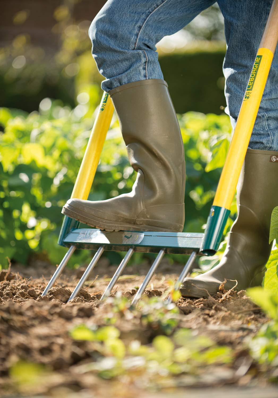 Leborgne Binette NaturOvert Id/éal pour la pr/éparation du potager Acier tremp/é /Écologique et ergonomique Poids: 1,1 kg D/ésherbage et pr/éparation du sol