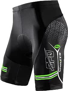 Sponeed Men's Cycling Shorts Padded MTB Bicycle Wear Road Bike Biking Clothing Biker Half Pants