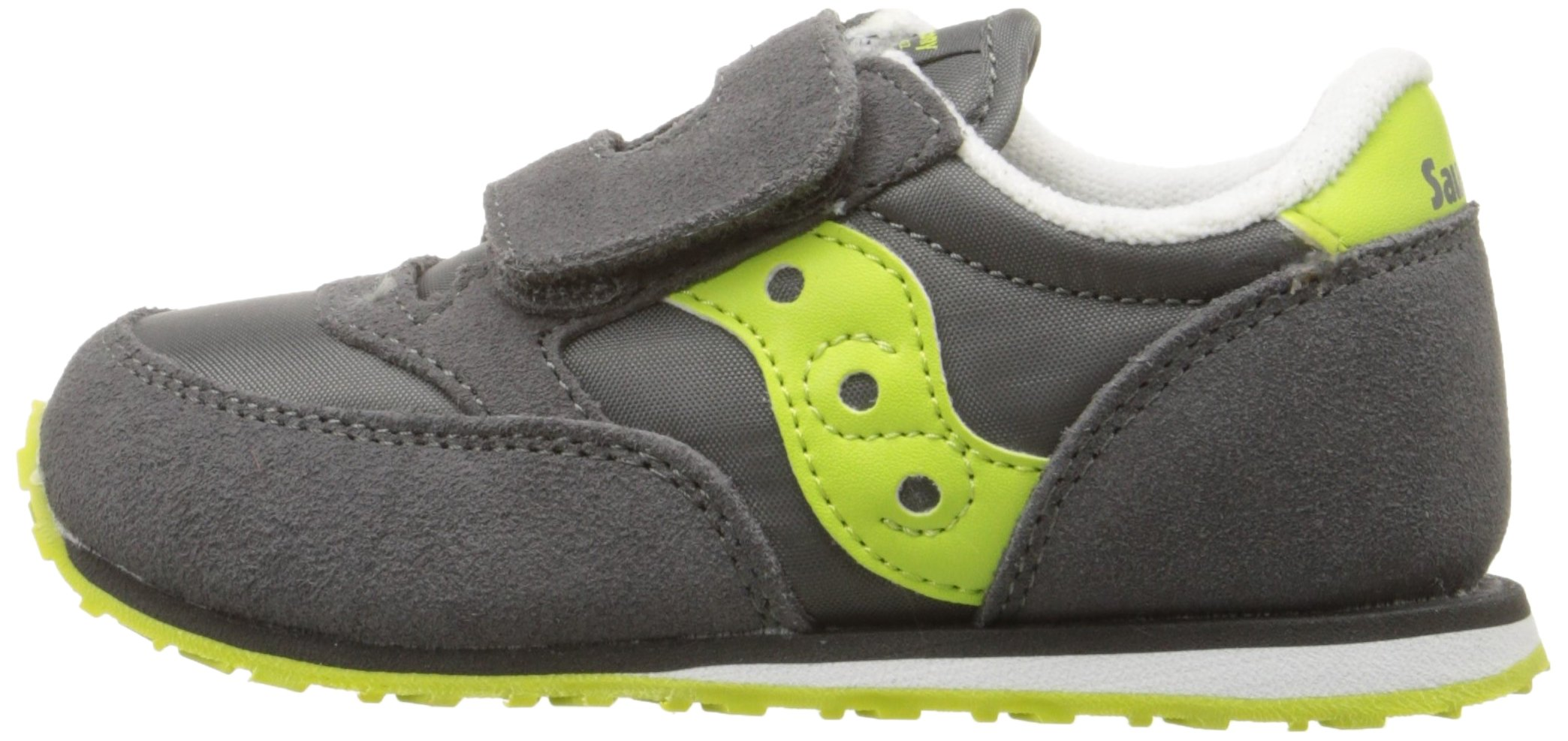 Saucony Jazz Hook & Loop Sneaker (Toddler/Little Kid), Grey/Citron, 9 M US Toddler by Saucony (Image #5)