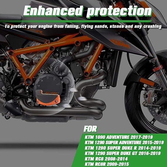 Xx Ecommerce Motorrad Recht Motor Stator Abdeckung Schutz Fall Schieberegler Bewachen Beschützer Für K T M 1290 Super Duke R Gt Rc8 Orange Auto