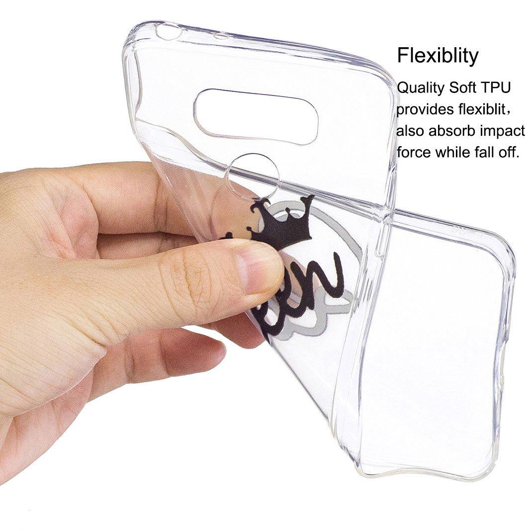 Ma/çonnerie et Poney Cadeau: 1 t/él/éphone Portable Stand, Couleur au Hasard Etui en Silicone TPU Etui LG G6 Housse Souple de Protection OuDu Coque LG G6 Transparente Nouveau Motif