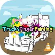 Trucks Finger Painting
