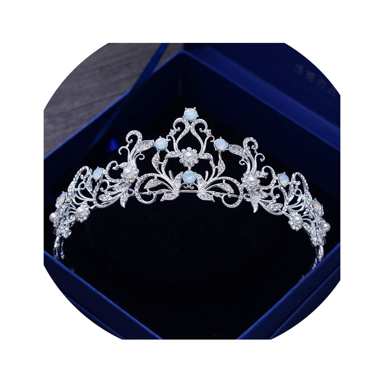 Haarreif//Diadem mit Kristallen Hellblau