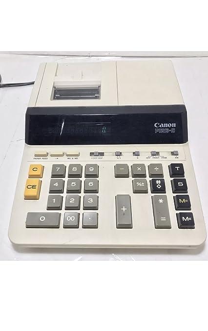 amazon com canon p126 d 12 digit 2 color heavy duty print rh amazon com Canon 10-Digit Calculator Solar Canon 10-Digit Calculator Solar
