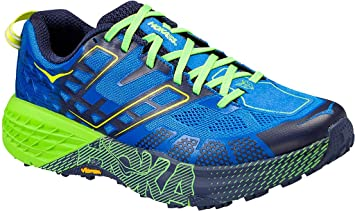 c2e775bac67f Hoka Speedgoat 2 Men   UK 10.5   Imperial Blue Jasmine Green  Amazon ...