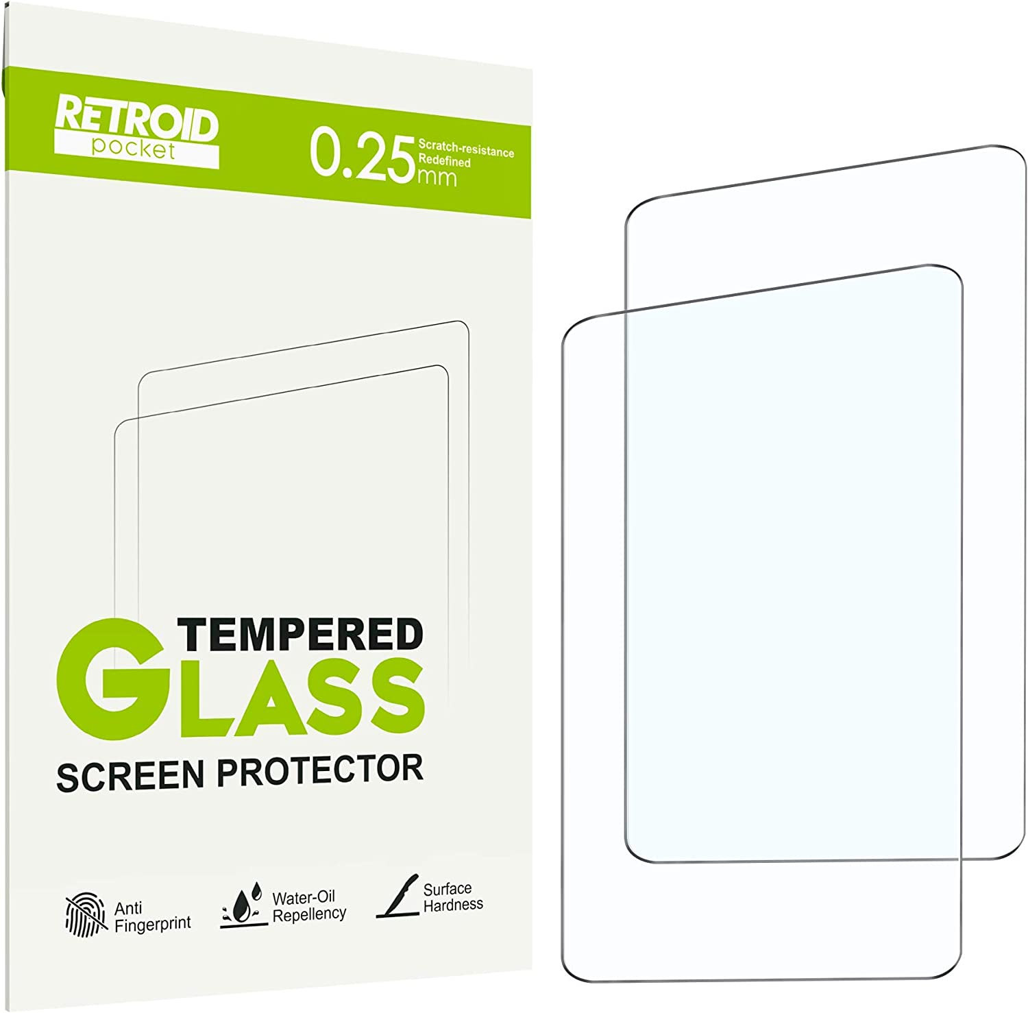 Retroid Pocket 2 Screen Protectors[2-Pack], Tempered Glass Screen Protector Specially Designed for Retroid Pocket 2 Android Handheld Game Console Series