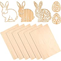 6 Pieces Balsa Wood Sheets Thin Basswood Wood Sheets Hobby Wood Plywood Board for DIY Crafts Wooden Mini House Boat…