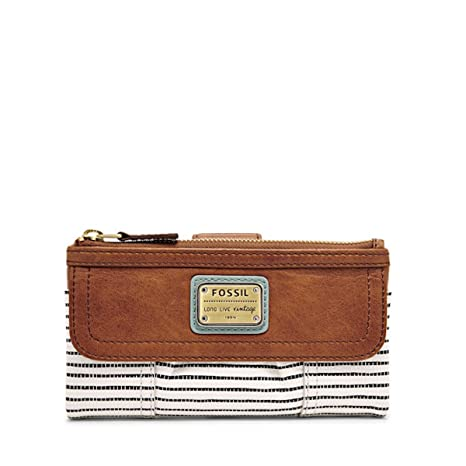 Fossil Emory Monedero piel 20 cm saddle stripe: Amazon.es ...