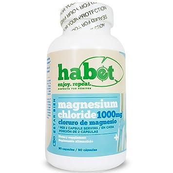 Habet - Magnesium Chloride Mineral Supplement - Cloruro de Magnesio - 1000 mg Fast Dissolving Capsules