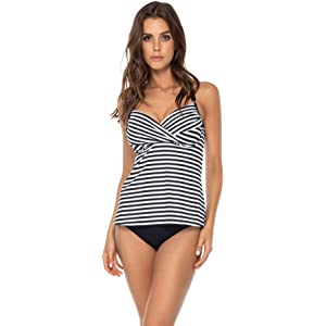 2976447fe878e Swim Systems Women's Crossroads Tankini Top Swimsuit with Underwire