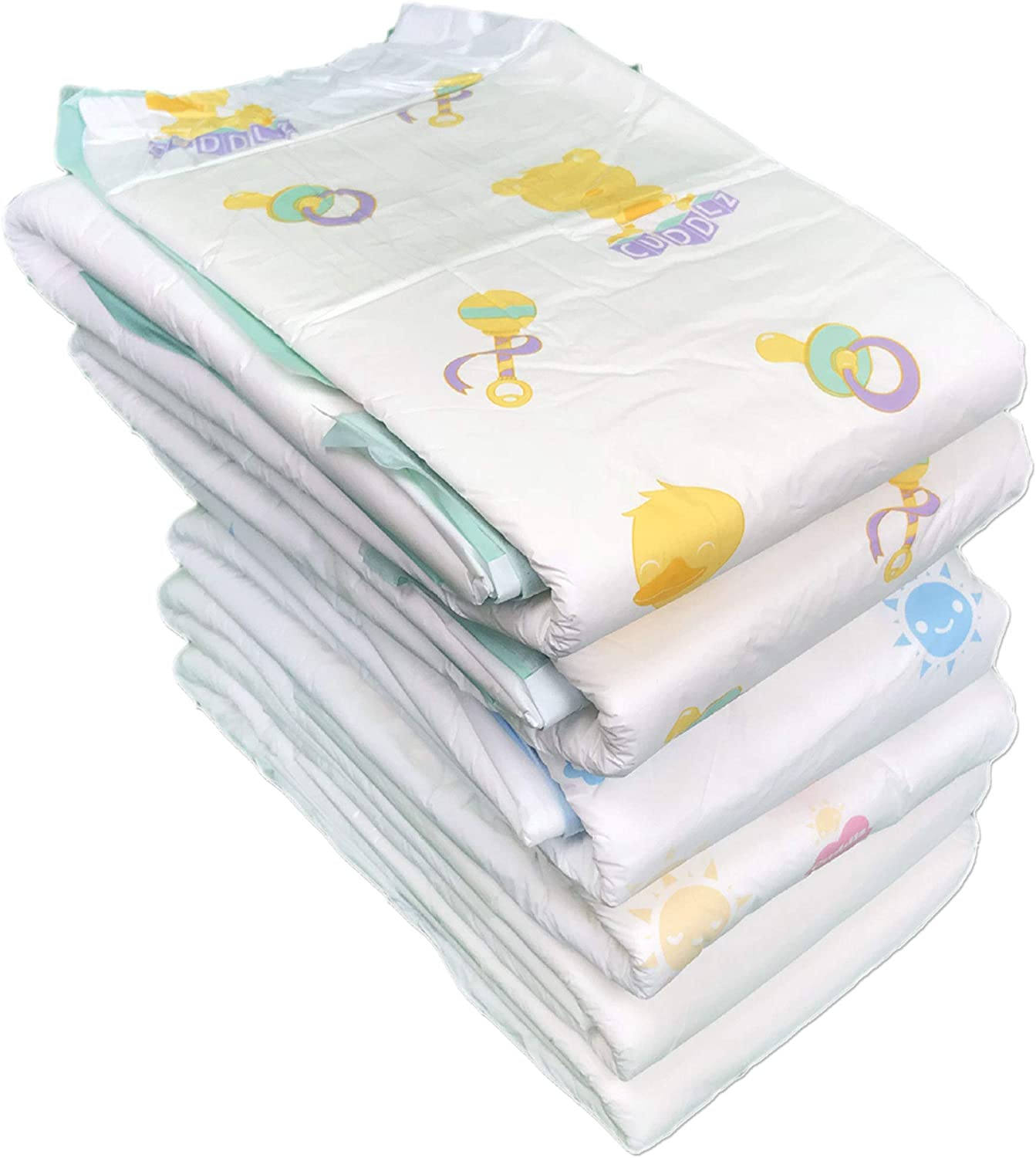 Cuddlz Sample Pack of 7 Adult Nappies//Diapers Size Medium