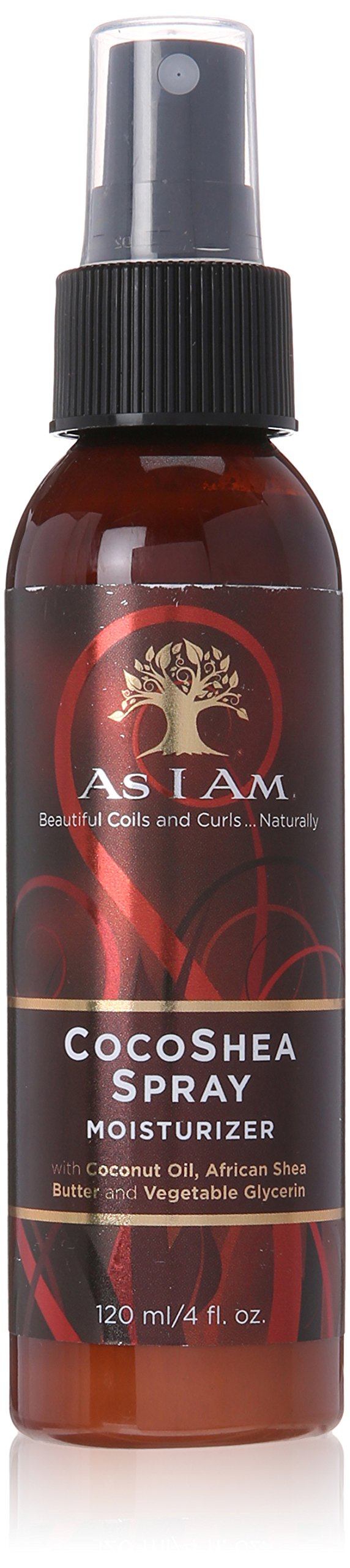 As I Am CocoShea Spray - 4 Ounce - Concentrated Nano Blend of Coconut Oil and African Shea Butter - Nourishes, Softens and Boosts Shine - Hydrates the Hair Shaft - Moisturizes Hair and Scalp