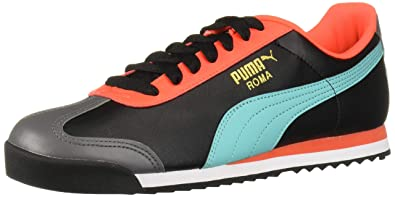 PUMA Roma Basic Sneaker, Black Blue Turquoise, 5.5 M US