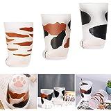 Taza de gato con diseño de pata de gato, taza esmerilada de garra de gato, taza de garra de gato, taza de leche de 300 ml