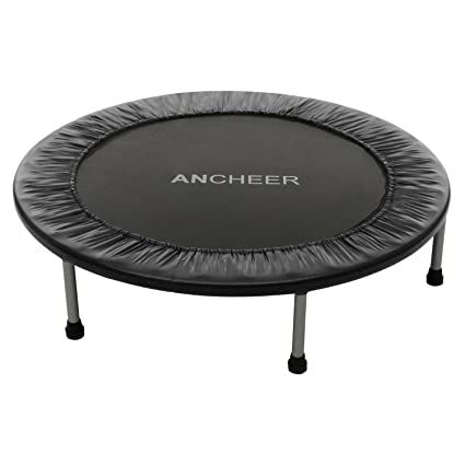 Ancheer Max Load 220lbs Rebounder Trampoline With Safety Pad For Indoor  Garden Workout Cardio Training (