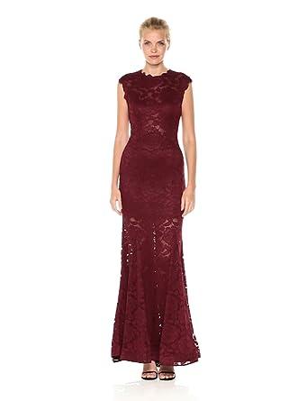 0e55ae2cef9 Betsy   Adam Women s Long Lace Mermaid Dress at Amazon Women s ...