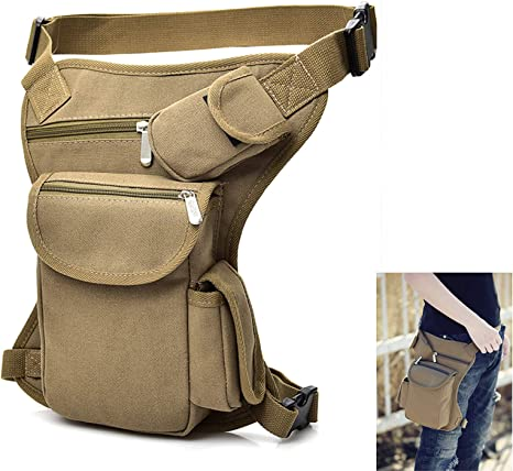 Tactical Waist Fanny Pack Drop Leg Bag Camping Outdoor Hiking Military Pouch UK