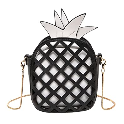 52f930e585f8 Kukoo Girl Leather Cross Body Bag Pineapple Shaped Creative Single ...
