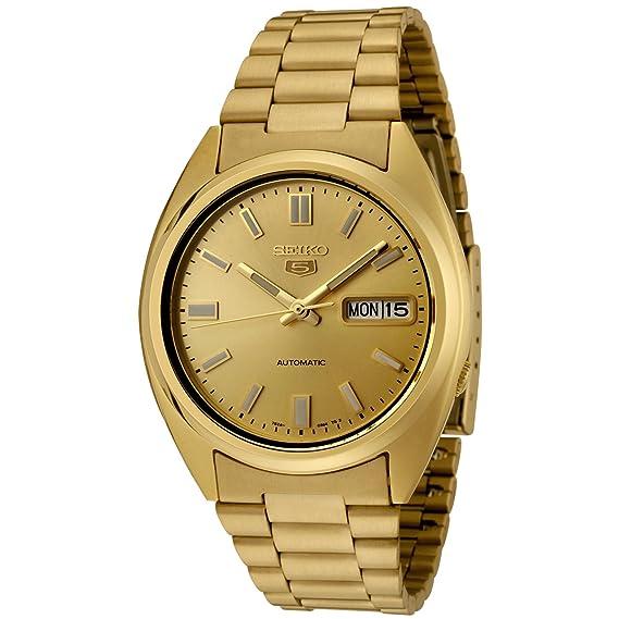 Seiko Reloj Analógico Automático para Hombre con Correa de Acero Inoxidable - SNXS80K: Seiko: Amazon.es: Relojes