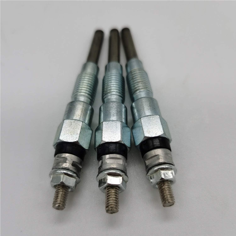 3PCS Glow Plug 16851-65510 16851-65512 for Kubota RTV1100 RTV1140 RTV900G RTV900G6 RTV900G9
