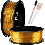 Silk Gold 3D Printer 1.75mm PLA Filament 1kg 2.2lbs Spool High Diameter Accuracy Widely Compatible TTYT3D