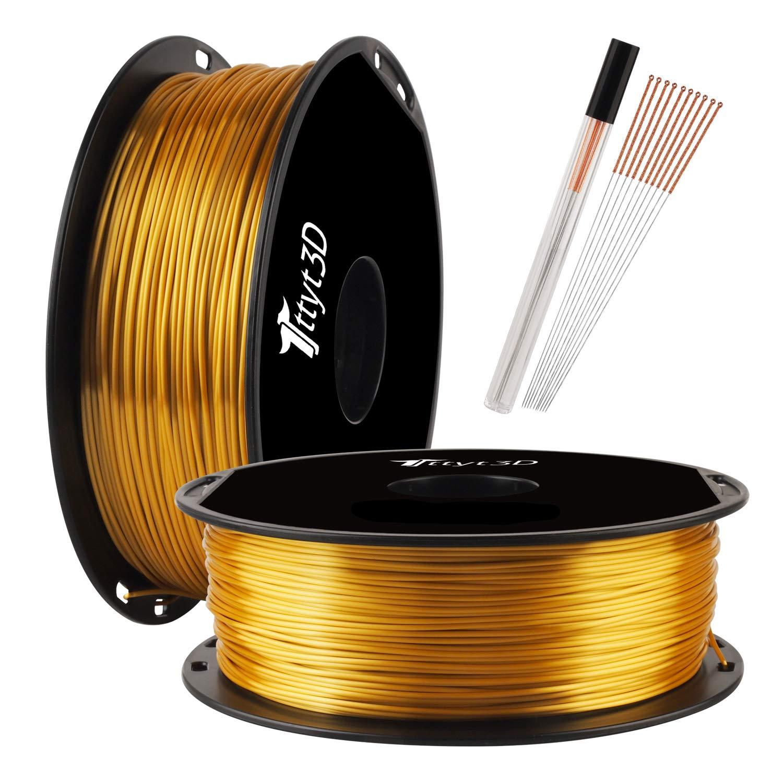 Filamento Impresora 3D 1.75mm PLA 1kg - dorado