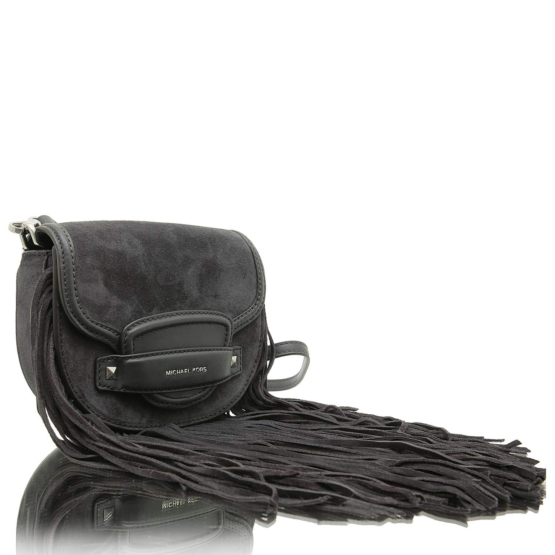 6b5fe4ca45bf1 Michael Kors Cary 32F8S0CC1S Damen Handtasche Schultertasche Umhängetasche  Partytasche (Charcoal)  Amazon.de  Schuhe   Handtaschen