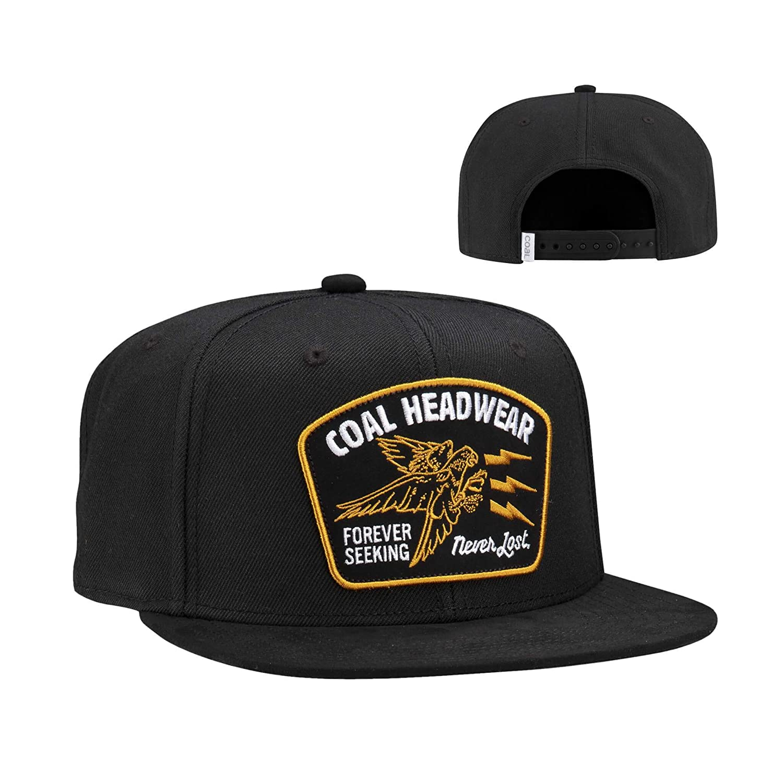 7284e2ef2 Amazon.com: Coal Men's The Seeker Snapback Cap, One Size Black: Clothing
