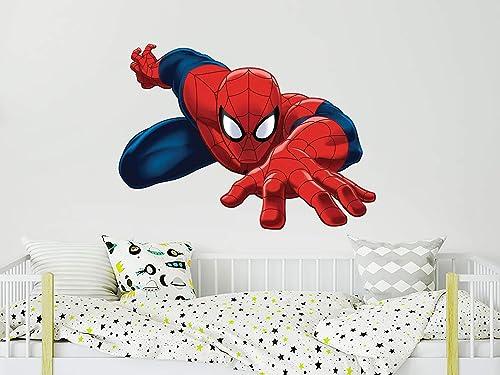 Personalized Spiderman Poster Wall Decal Custom Name Superhero Decor Boy Gift Kids Room Vinyl Sticker Playroom Nursery Wall Art Print 1011