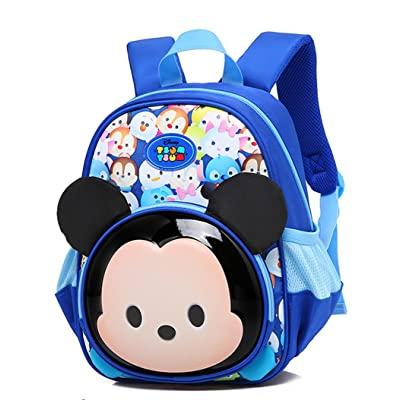 YOURNELO Children's Cute Cartoon Mickey Minnie Mouse Backpack Bookbag for Boys Girls