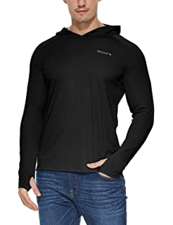 e5c238a36 Baleaf Men's UPF 50+ Sun Protection Hoodie Long Sleeve Performance T-Shirt