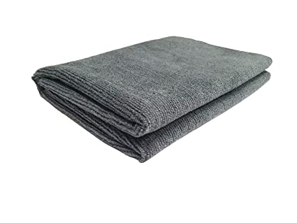 SOFTSPUN Microfiber Bath & Hair Care Towel - 70X140 Cms (Grey)