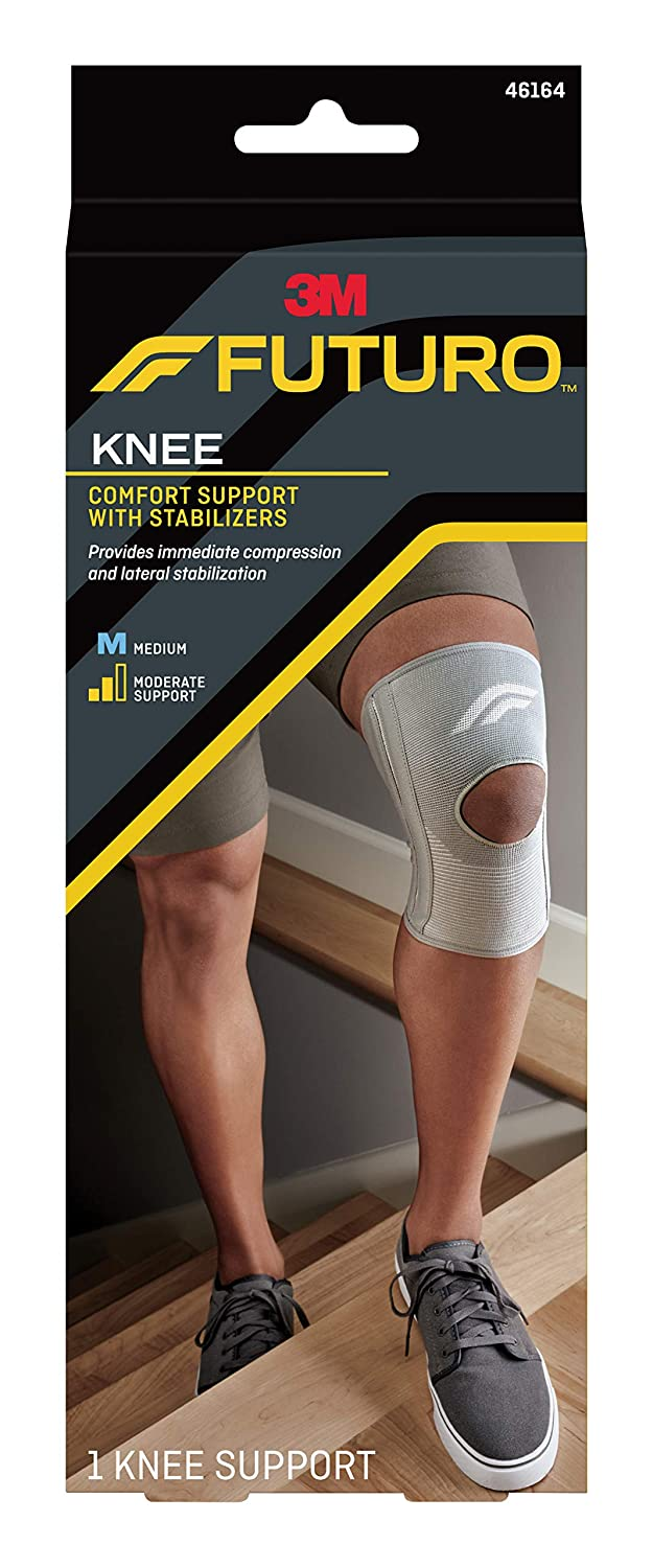 Amazon.com: Futuro Stabilizing Knee Support, Helps Relieve Symptoms of Arthritis, Moderate Stabilizing Support, Medium: Health & Personal Care
