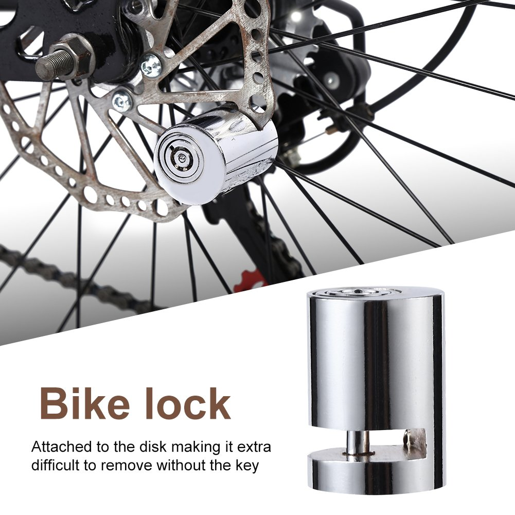 VGEBY1 Cerradura del Freno de Disco de la Bici Mini Cerradura antirrobo port/átil Impermeable del Disco para la Motocicleta de la Bicicleta
