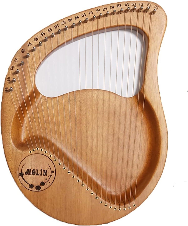 SUKIVDR HARP HARP24 | 21 문자열을 하프 마호가니 STRING INSTRUMENT 음악 애호가를위한 초보자들 성인,(나르는 부대를 가진,예비 품목 문자열,음악을 가르치는 자료)조정 렌치 최고의 음악을 선물